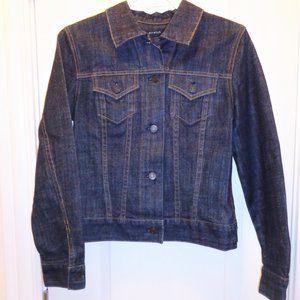 Like new! Dark denim / indigo jean jacket (XS / S)
